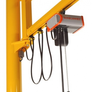 Jib crane with CLX Electric Chain Hoist