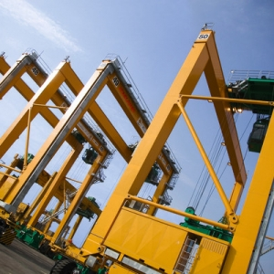 Konecranes rubber tired gantry crane